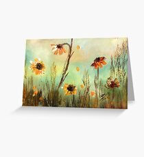 WILD FLOWERS- Acrylic Painting Greeting Card