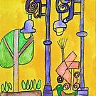 Mexican Streetlights Zion Art Zion Levy Stewart  by zionart