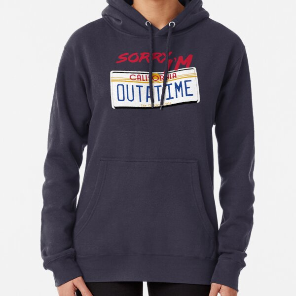 Outatime Back To The Future Movie Inspired Hoodie Sci-Fi Gift Him Her Birthday