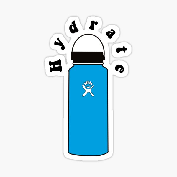 Hydrate Hydro flask-blue  Sticker
