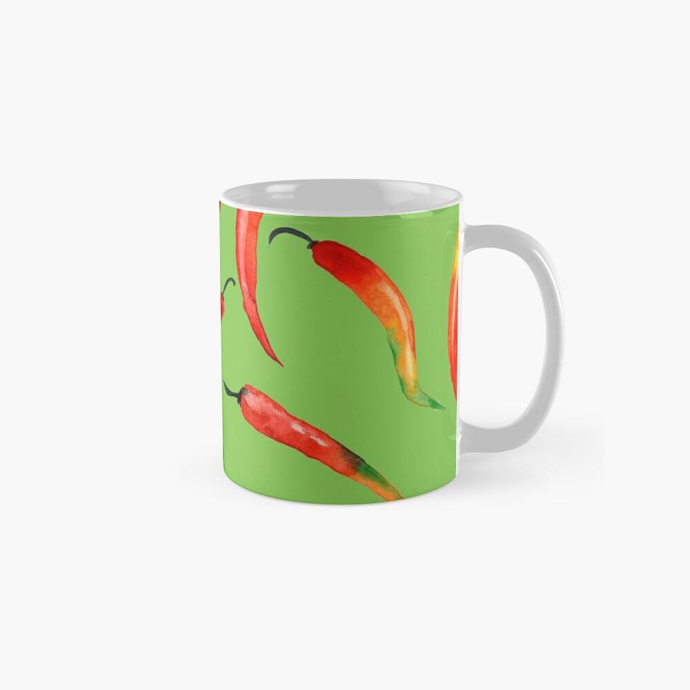 - Chilli-Muster (grün) - Tassen