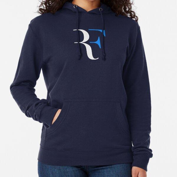 Roger Federer Personal Logo RF Slewah White Blue Lightweight Hoodie
