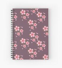 Sakura deep in Purple Spiral Notebook