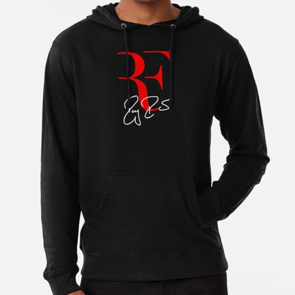 Roger Federer Personal Logo RF Sign Red White Lightweight Hoodie