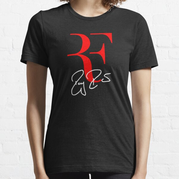 Roger Federer Personal Logo RF Sign Red White Essential T-Shirt