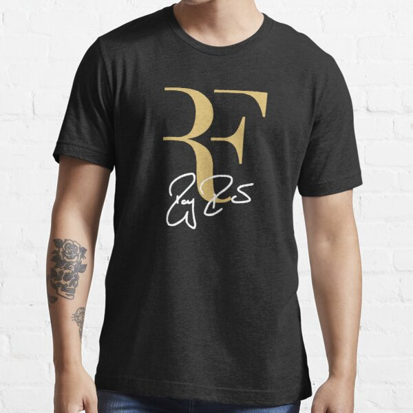 Roger Federer Personal Logo RF Sign Gold White Essential T-Shirt
