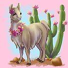 Flower Cactus Llama by Unicornarama