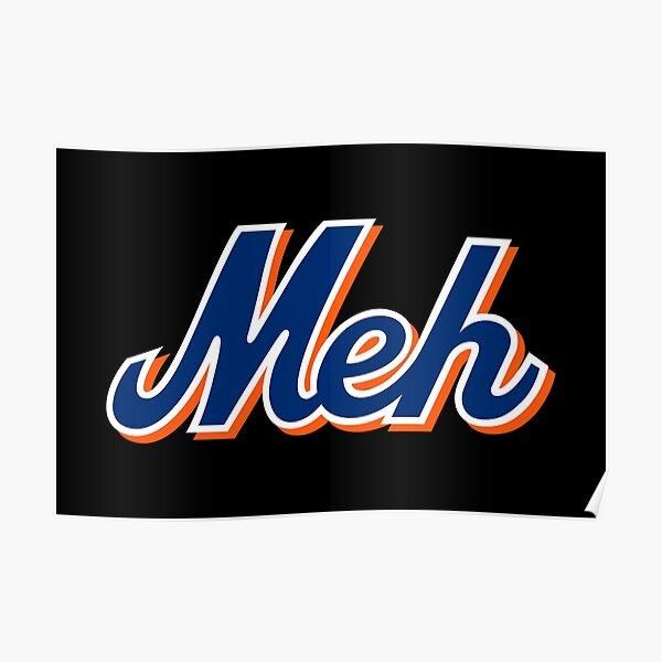 NY Meh - Black Poster