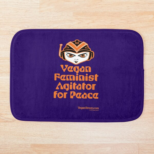 Vegan Feminist Agitator for Peace Bath Mat