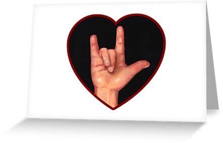Hand Making Sign For I Love You American Sign Language Greeting