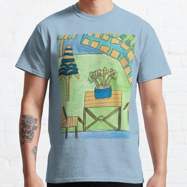 Mexican Courtyard Zionart Zion Levy Stewart Classic T-Shirt