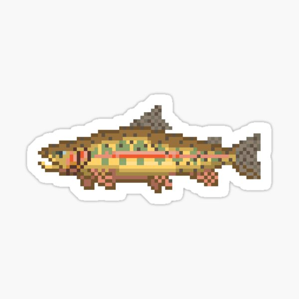 Golden Trout Pixel Art - California State Fish  Sticker