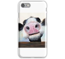 NOSEY COW 'HEY! HOW'S IT GOIN'?' BY SHIRLEY MACARTHUR iPhone Case/Skin
