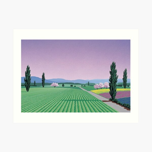 Chemise Vaporwave Hiroshi Nagai Impression artistique