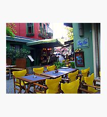 Street cafe in old Istanbul! Photographic Print