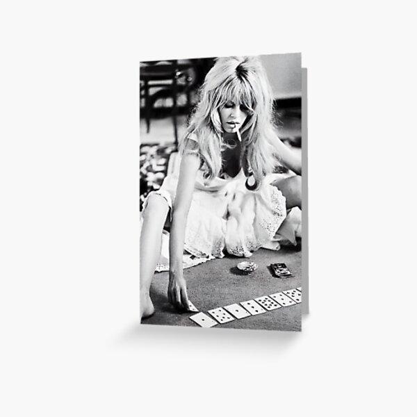 Brigitte Bardot Playing Cards Vintage Photograph Greeting Card