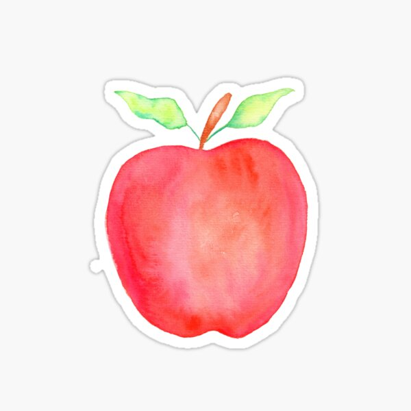 Watercolor Apple Sticker