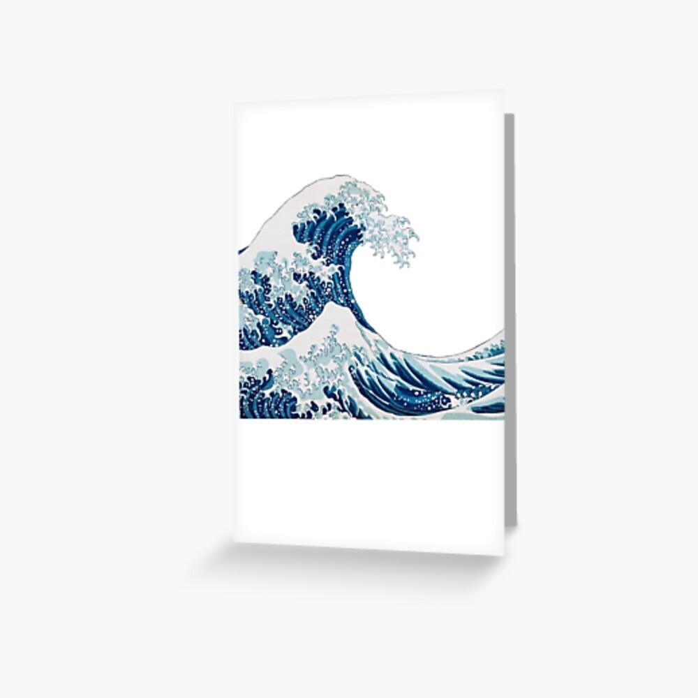 Wave Sticker Grußkarte