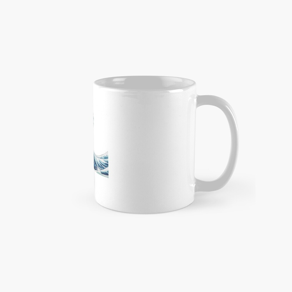 Wave Sticker Tasse