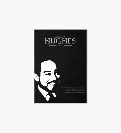 A Quote By Langston Hughes Art Board Print