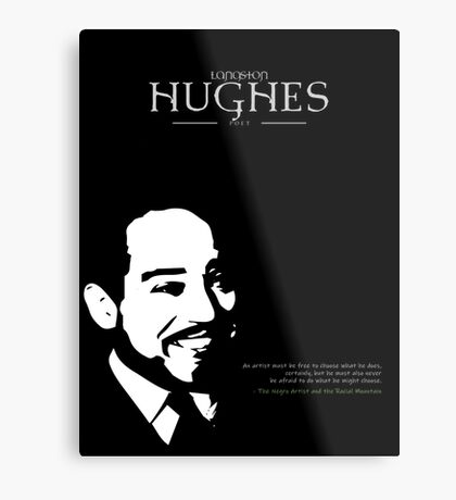 A Quote By Langston Hughes Metal Print