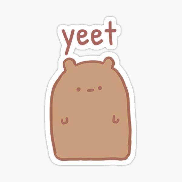 Blank Bear Yeet Sticker