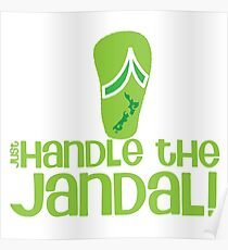 Just handle the jandal funny kiwi New Zealand saying Poster