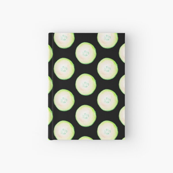 Watercolor Cucumber Hardcover Journal