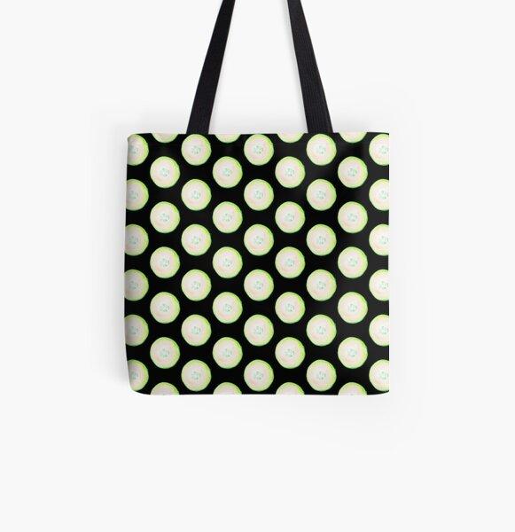 Watercolor Cucumber All Over Print Tote Bag