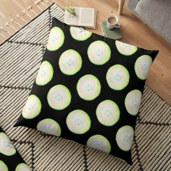 Watercolor Cucumber Floor Pillow