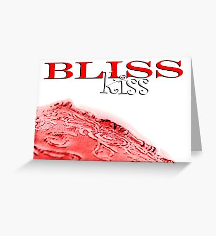 Sweet Bliss Kiss © Vicki Ferrari Greeting Card