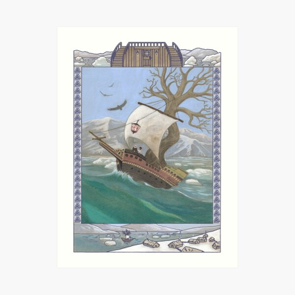 Letters From The Labyrinth | Room #5: The Leiðarstjarna (The Lodestar)  Art Print