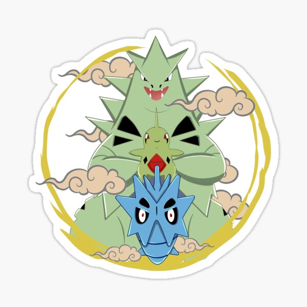 Pokemon of the second generation (Larvitar, Pupitar, Tyranitar) Sticker
