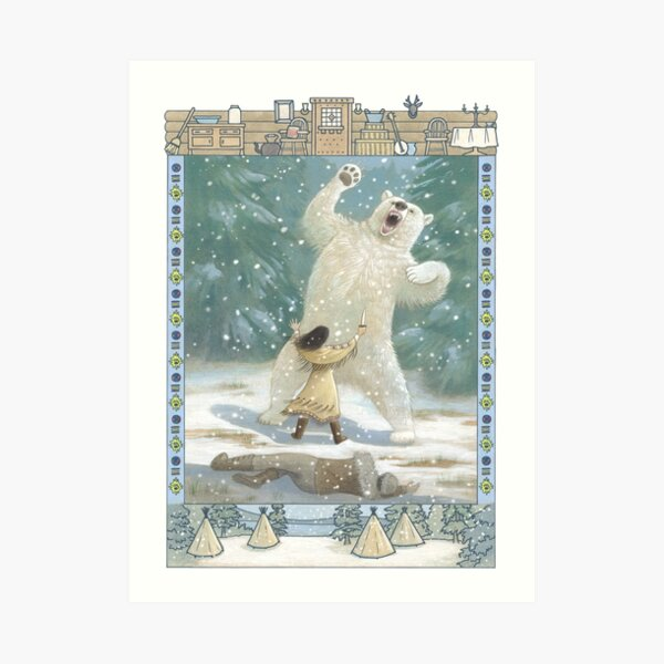 Letters From The Labyrinth | Room #7: Wisakedjak Lodge (Whiskey-Jack Lodge)  Art Print