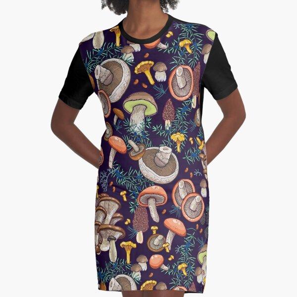 Dark dream forest Graphic T-Shirt Dress