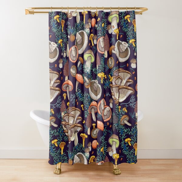 Dark dream forest Shower Curtain