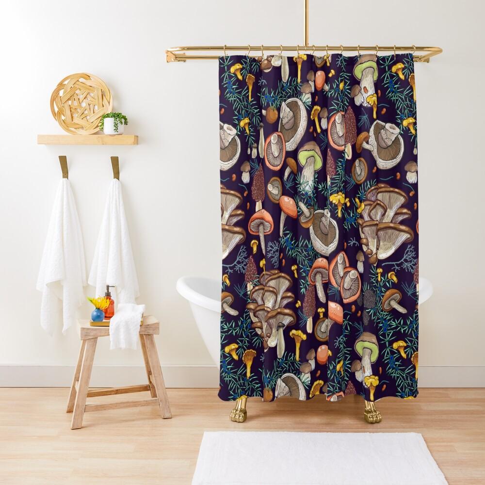 Dark dream forest Shower Curtain