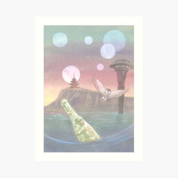 Letters From The Labyrinth | Room #8: The Waystation at Tzu Art Print
