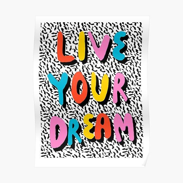Ya Heard - 1980's throwback retro pattern memphis-style hipster bright colorful pop art minimal rad Poster