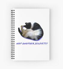 Not Another Selfie??!! - Cat Spiral Notebook