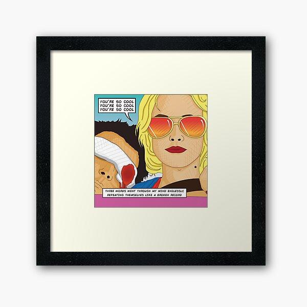 True Romance Comic Book Style Framed Art Print