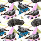 Seals relaxing avant garde pattern by stasia-ch
