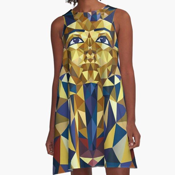 Golden Tutankhamun A-Line Dress
