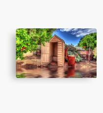 Aussie Outhouse Canvas Print