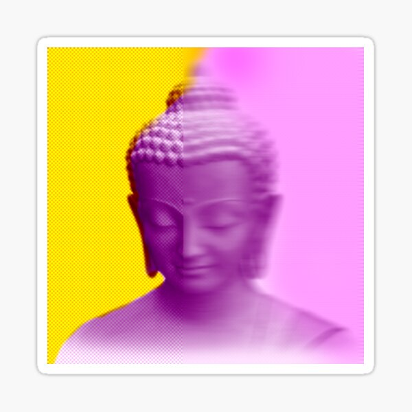 Buddha: Impermanence of Things Sticker