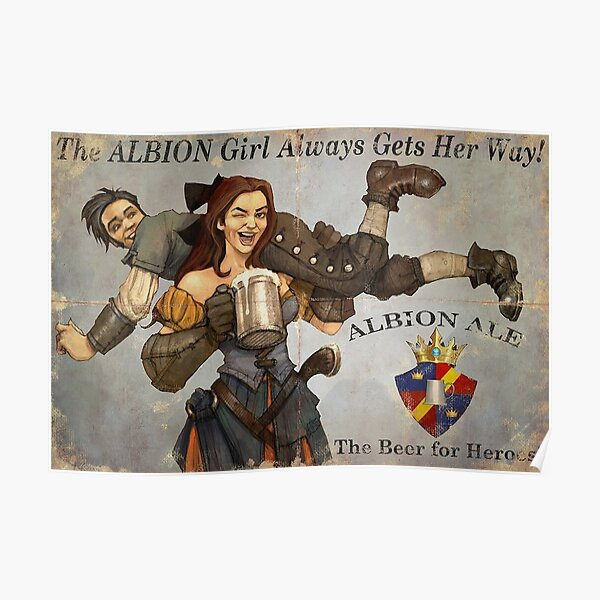 Fable 3 Propaganda Poster - the albion girl always gets her way Poster