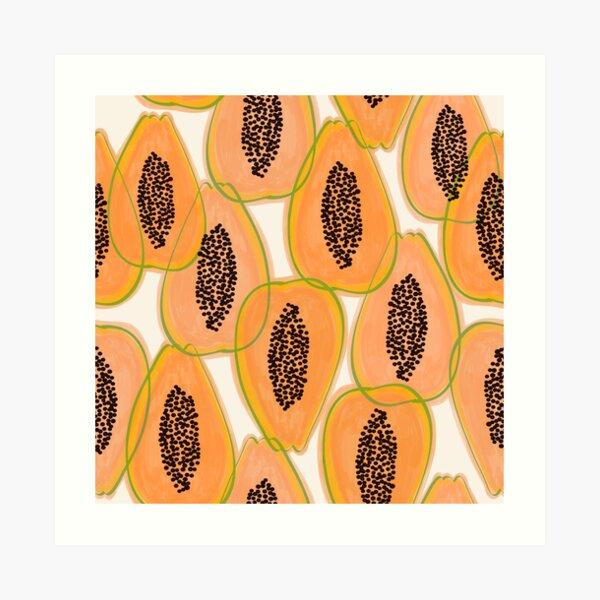 Papaya Cravings #illustration #pattern Art Print