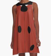 Ladybird Pattern Style A-Line Dress