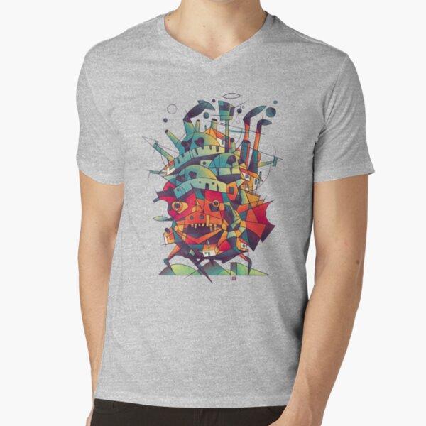 Moving Castle V-Neck T-Shirt