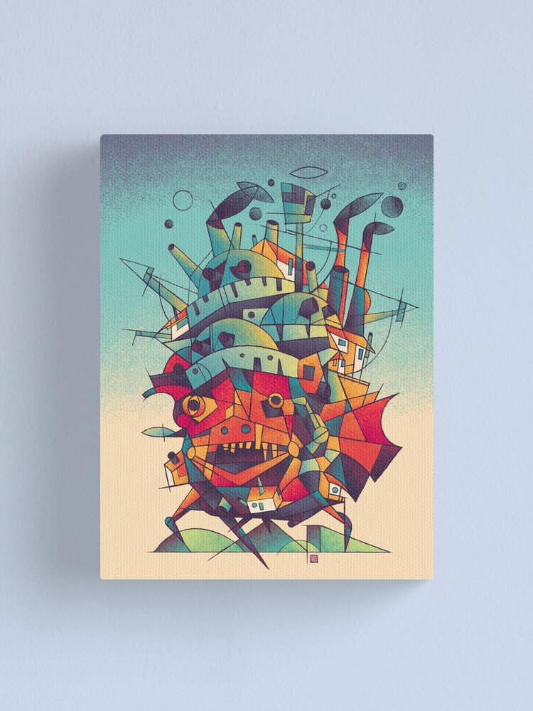 Alternate view of Moving Castle Canvas Print